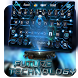 future tech machine keyboard neon dark guard by Keyboard Theme Factory