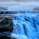Foggy Blue Waterfall LWP by Daksh Apps