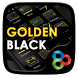 Golden Black Go Launcher Theme by Freedom Design