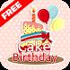 Happy Birthday Cake Stickers by StickerLabz Inc.