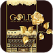 Gold Keyboard theme Gold Rose by Locker Themes Center