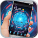 Hologram Blue Tech Kystal Neon by Android Theme Studio