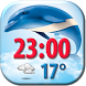 Dolphin Clock Weather Widget by Super Widgets