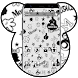 Black White Cartoon Mouse by Cool Theme Love