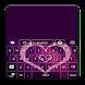 GO Keyboard Purple Hearts by MZ Development