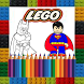 Coloring book for Super Legos by Magic Coloring World