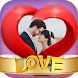 Love Photo Frame in Heart by Framography Apps