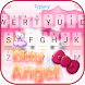 Kitty Angel: Pink and lovely Theme&Emoji Keyboard