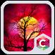 Red Full Moon Theme C Launcher by Pop Locker Team - Hide Secret App