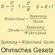 Ohmsches Gesetz alle Formeln by Tino Habermann