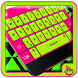 Fluorescent Flashy Neon Keyboard Theme by Fashion Cute Emoji