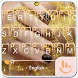 Gold Lure Keyboard Theme by Fashion Cute Emoji
