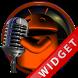 Poweramp Widget Orange Droid 5 by Maystarwerk Skins & Widgets Vol.2