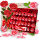 Red Rose Flower Keyboard Theme by cool wallpaper