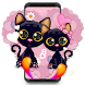 Black Cartoon Cat by Cool Theme Love