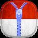 Indonesia Flag Zipper Lock by SOLITUDE