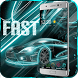 Fast Car Theme Neon Hologram by Android Theme Studio
