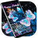 Neon Butterfly keyboard by Echo Keyboard Theme