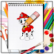 How to Draw Paw Patrol by Learn How to Draw Tutorial Dev