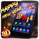 Happy New Year 2018 3D Theme by 3dthemecoollauncher