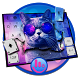 Hipster Cat Keyboard Theme by Fashion Cute Emoji