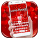 Red Love Heart Keyboard by Super Cool Keyboard Theme