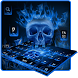Flaming Skull Keyboard Theme by Keyboard Theme Factory