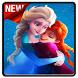 Frozen Wallpaper Anna and Elsa by hidden studio