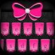 Pink Bow with Diamond Keyboard Theme