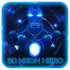 3D Neon Hero Keyboard by Echo Keyboard Theme