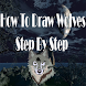 How To Draw Wolves Step By Step by aonecreation