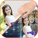 Change photo background by App Basic