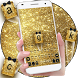 Gold Glitter Bow Keyboard by Keyboard Theme Factory