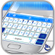 Neon White Technology Keyboard Theme by Fashion Cute Emoji