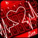 Live 3D Red Neon Heart Keyboard Theme by Fashion Cute Emoji