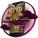 Keyboard - Night Owl Lovely Free Emoji Theme by Kika Free Theme