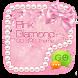 GO SMS PINK DIAMOND THEME by ZT.art
