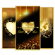 Gold Luxury Love by Keyboard and HD Live Wallpapers