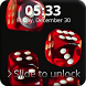 Poker Dice Lock Screen by Key Lock Skin