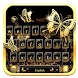 Gilt Butterflies Keyboard Theme by HD Live Wallpaper 2017