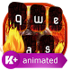 Fire Animated Keyboard Theme by Live Keyboard Themes Animated Emoji