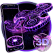 3D Fidget Spinner Neon Hologram Theme by Elegant Theme