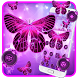 Neon Purple Butterfly by Cool Theme Love