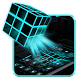 Neon Rubix Cube 2D Theme by Happy themes & wallpapers :)