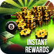 instant Rewards daily free coins for 8 ball pool by Hamilton Apps & Games