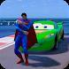 Superheroes Cars Lightning: Top Speed Racing Games