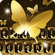 Gold Butterfly Shining Keyboard Theme by Wallpapers HD Backgrounds