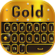 Gold HD Keyboard by BestSuperThemes