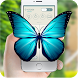 Butterflies on screen phone