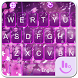 Live Purple Flower Rain Keyboard Theme by Fashion Cute Emoji